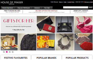 Lo shop online di House of Fraser.