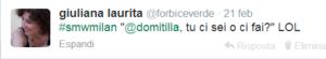 Tweet Domitilla ci sei o ci fai