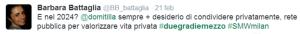 sempre + desiderio di condividere privatamente, rete pubblica per valorizzare vita privata
